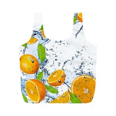Fruits Water Vegetables Food Full Print Recycle Bags (m)