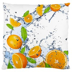 Fruits Water Vegetables Food Large Flano Cushion Case (two Sides)