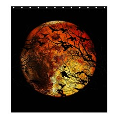 Mars Shower Curtain 66  X 72  (large)  by Valentinaart