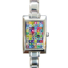 Exquisite Icons Collection Vector Rectangle Italian Charm Watch by BangZart
