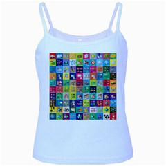 Exquisite Icons Collection Vector Baby Blue Spaghetti Tank