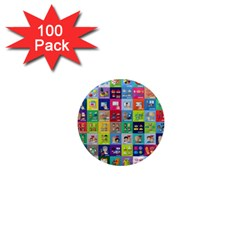 Exquisite Icons Collection Vector 1  Mini Magnets (100 Pack)
