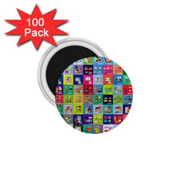 Exquisite Icons Collection Vector 1 75  Magnets (100 Pack)  by BangZart