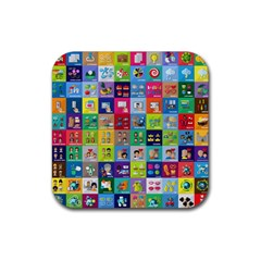 Exquisite Icons Collection Vector Rubber Square Coaster (4 Pack)  by BangZart