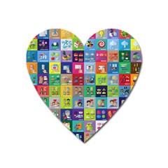 Exquisite Icons Collection Vector Heart Magnet