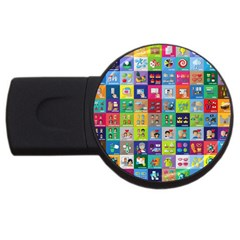 Exquisite Icons Collection Vector Usb Flash Drive Round (2 Gb)