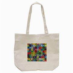 Exquisite Icons Collection Vector Tote Bag (cream) by BangZart