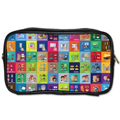 Exquisite Icons Collection Vector Toiletries Bags by BangZart