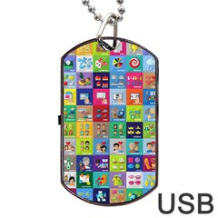 Exquisite Icons Collection Vector Dog Tag Usb Flash (one Side) by BangZart