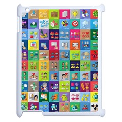 Exquisite Icons Collection Vector Apple Ipad 2 Case (white) by BangZart