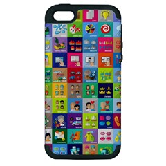 Exquisite Icons Collection Vector Apple Iphone 5 Hardshell Case (pc+silicone)