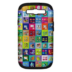 Exquisite Icons Collection Vector Samsung Galaxy S Iii Hardshell Case (pc+silicone)