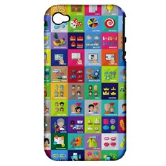 Exquisite Icons Collection Vector Apple Iphone 4/4s Hardshell Case (pc+silicone)