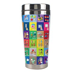 Exquisite Icons Collection Vector Stainless Steel Travel Tumblers by BangZart