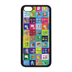 Exquisite Icons Collection Vector Apple Iphone 5c Seamless Case (black) by BangZart