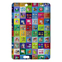 Exquisite Icons Collection Vector Amazon Kindle Fire Hd (2013) Hardshell Case by BangZart