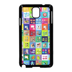 Exquisite Icons Collection Vector Samsung Galaxy Note 3 Neo Hardshell Case (black)