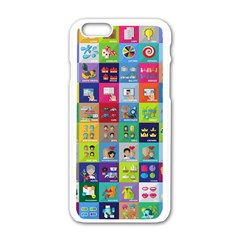 Exquisite Icons Collection Vector Apple Iphone 6/6s White Enamel Case by BangZart