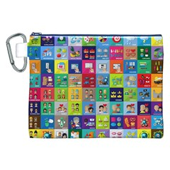 Exquisite Icons Collection Vector Canvas Cosmetic Bag (xxl) by BangZart