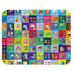 Exquisite Icons Collection Vector Double Sided Flano Blanket (medium)  by BangZart