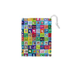 Exquisite Icons Collection Vector Drawstring Pouches (xs)