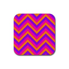 Chevron Rubber Square Coaster (4 Pack)  by BangZart