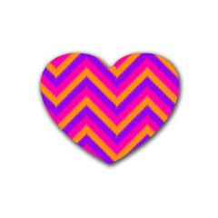 Chevron Rubber Coaster (heart)