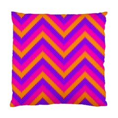 Chevron Standard Cushion Case (one Side) by BangZart