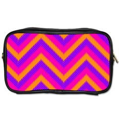 Chevron Toiletries Bags 2 Side