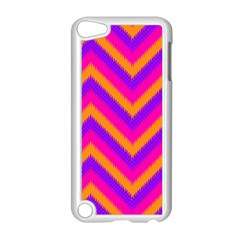 Chevron Apple Ipod Touch 5 Case (white) by BangZart