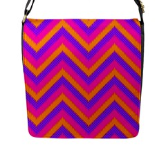 Chevron Flap Messenger Bag (l)