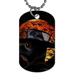 Bird Man  Dog Tag (two Sides) by Valentinaart