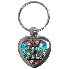 Elephant Stained Glass Key Chains (heart)  by BangZart