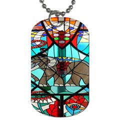Elephant Stained Glass Dog Tag (two Sides)