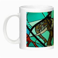 Elephant Stained Glass Night Luminous Mugs by BangZart