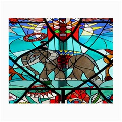Elephant Stained Glass Small Glasses Cloth (2 Side) by BangZart