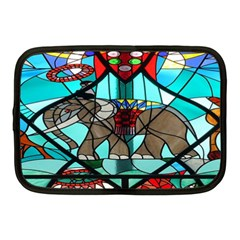 Elephant Stained Glass Netbook Case (medium)