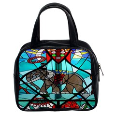 Elephant Stained Glass Classic Handbags (2 Sides)