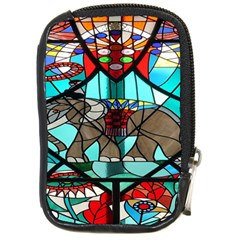 Elephant Stained Glass Compact Camera Cases by BangZart