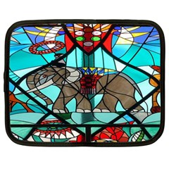 Elephant Stained Glass Netbook Case (xxl)