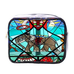 Elephant Stained Glass Mini Toiletries Bags by BangZart