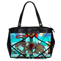Elephant Stained Glass Office Handbags (2 Sides)