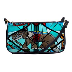 Elephant Stained Glass Shoulder Clutch Bags by BangZart