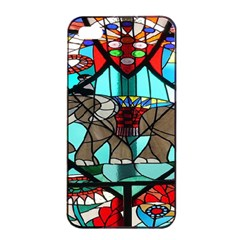 Elephant Stained Glass Apple Iphone 4/4s Seamless Case (black)