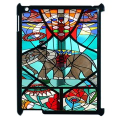 Elephant Stained Glass Apple Ipad 2 Case (black)