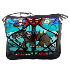 Elephant Stained Glass Messenger Bags