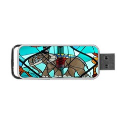Elephant Stained Glass Portable Usb Flash (two Sides) by BangZart