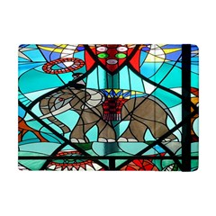 Elephant Stained Glass Apple Ipad Mini Flip Case
