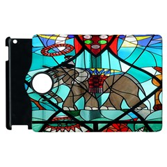 Elephant Stained Glass Apple Ipad 2 Flip 360 Case by BangZart