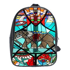 Elephant Stained Glass School Bags (xl)  by BangZart